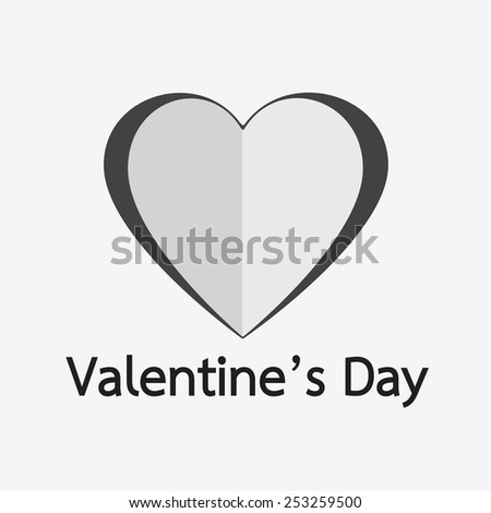 heart Valentines day card - stock vector