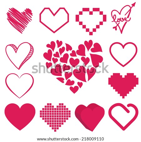 heart vector - stock vector