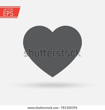 Heart Vector Icon Love Symbol Symbol Stockvector 781300396
