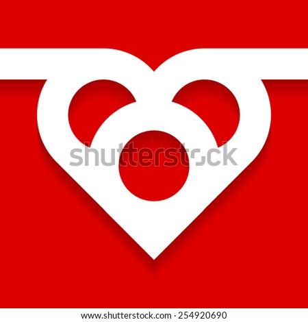 heart.vector illustration. - stock vector