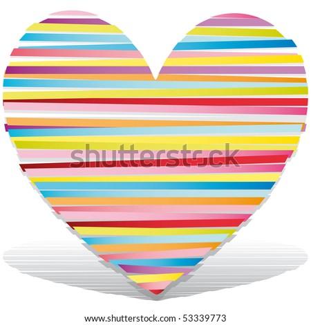 heart Vector Illustration icons symbols Valentine day - stock vector