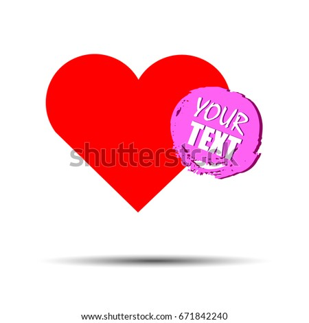 heart vector red day symbol element love icon design color romantic