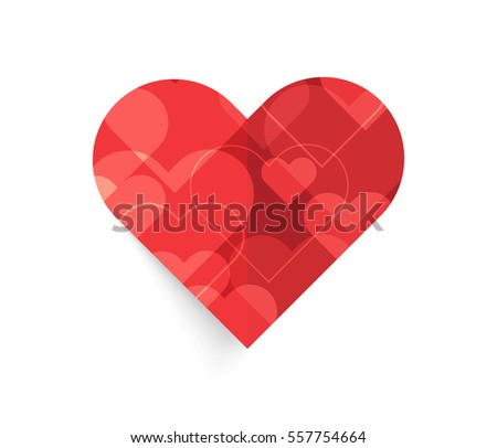 Heart with bokeh light. vector background