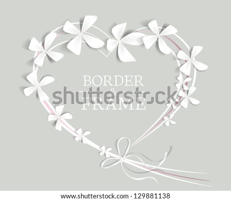 heart with flowers and place for text - stock vector