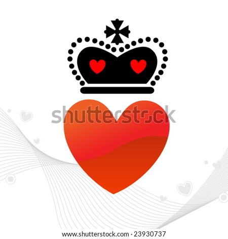Heart with Royal Crown