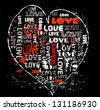 heart with typo, love concept,vector - stock photo