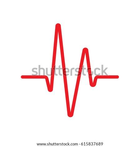 heartbeat heart beat monitor cardiogram line stock vector