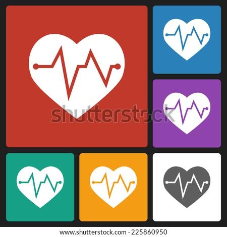 heartbeat icon - stock vector