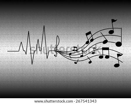 Heartbeat Line Art : Heartbeat music stock vector shutterstock