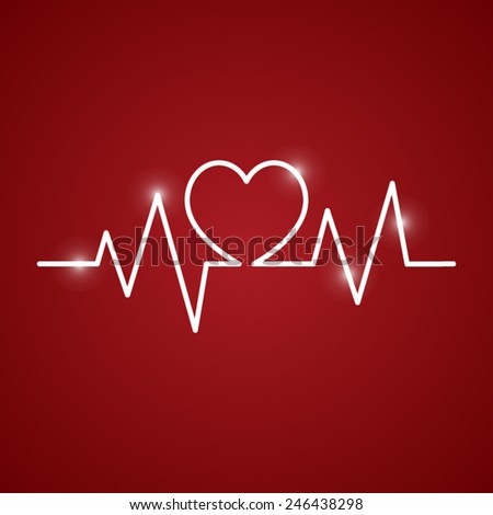 heartbeat of love - stock vector