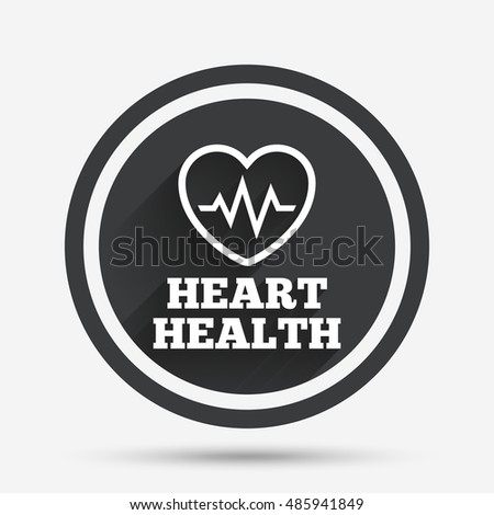 Heartbeat Sign Icon Heart Health Cardiogram Stock Vector 2018