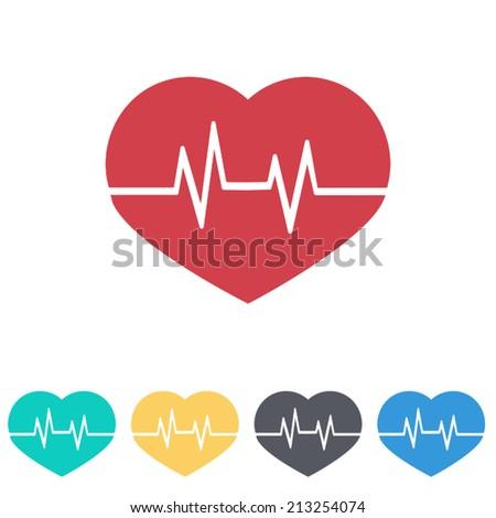 heartbeat sign icon, vector illustration - stock vector