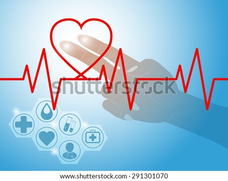 Heartbeat symbol as medical concept