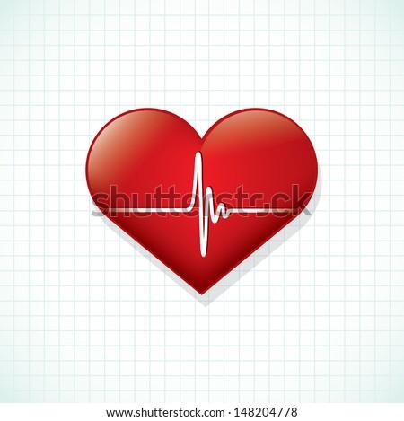Heartbeat - vector illustration - stock vector