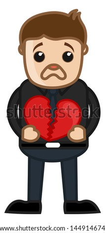 Heartbreak Sad Man - Cartoon Character