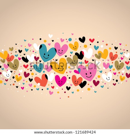 hearts background - stock vector
