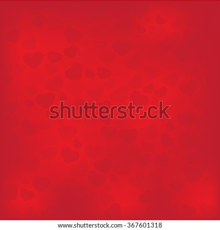 Hearts background for Valentine vector - stock vector