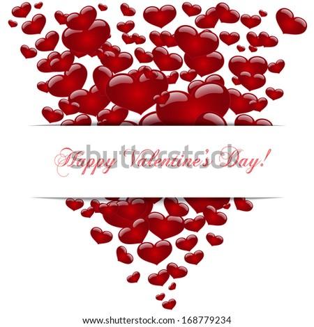 Hearts , concept love, Happy Valentine's day. Vector - stock vector