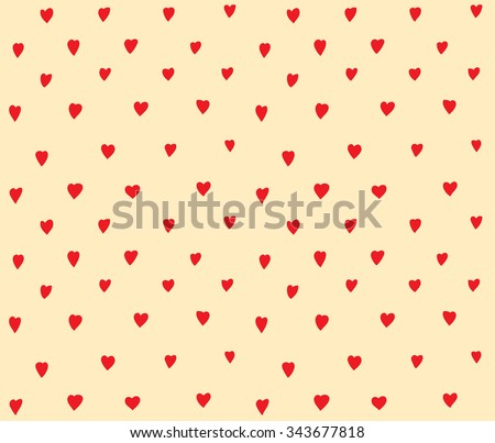 Hearts dots seamless pattern simple decoration. Doodles ornament background with hearts. Color vector illustration. EPS 8  - stock vector