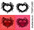 Hearts for Valentine's Day - stock vector