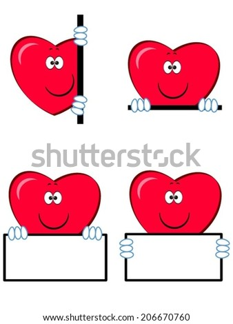 Hearts icons. - stock vector