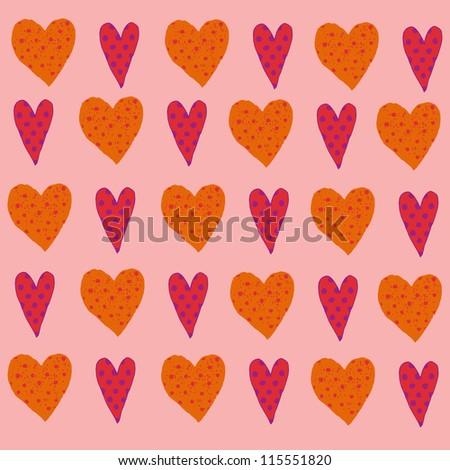hearts. love - stock vector