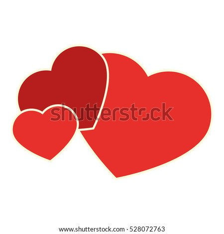 hearts love card isolated icon
