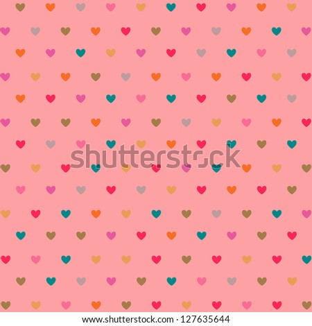 hearts pattern - stock vector