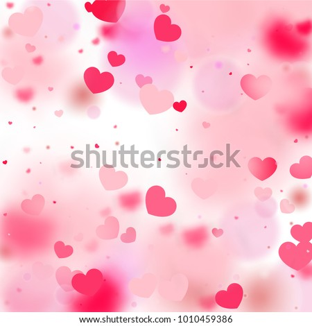 Hearts Random Background St Valentines Day Stock Vector 1010459386 ...