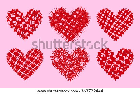 Hearts. Red hearts, isolated. Hearts vector. Hearts for Valentines Day. Hearts collection. Hearts. Hearts. Hearts. Hearts. Hearts. Hearts. Hearts. Hearts. Hearts. Hearts. Hearts. Hearts. Hearts.  - stock vector