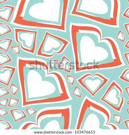 Hearts - seamless pattern