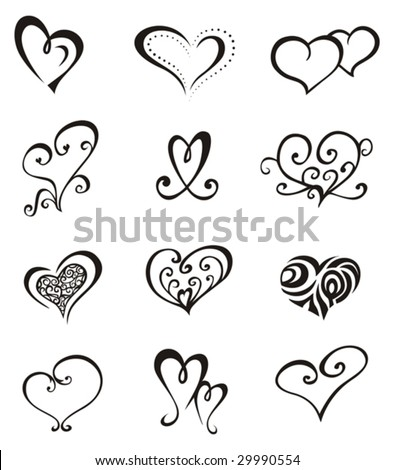 Hearts â?? Tattoo Set