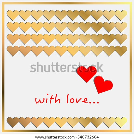 Hearts. Valentine card. Vector illustration.
