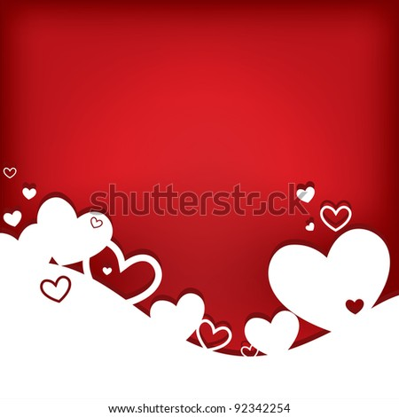 Hearts. Valentine card. Vector illustration. EPS10.