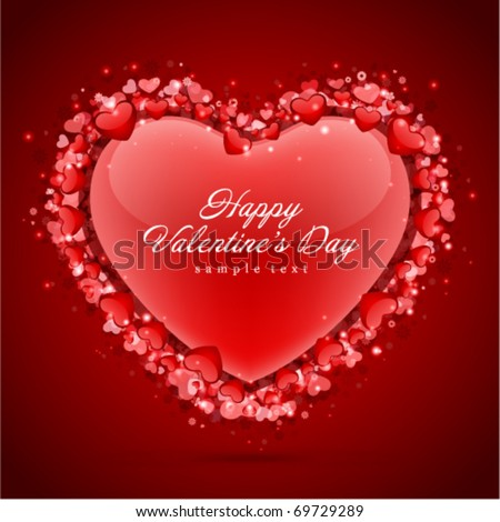 Hearts Valentine's day vector background