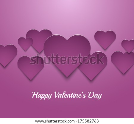 Hearts Valentines Day background. Vector illustration eps10