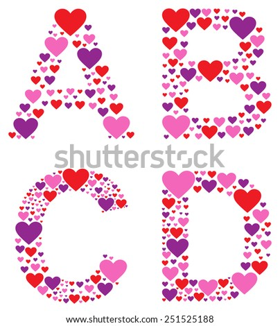 Hearty ABCD - stock vector