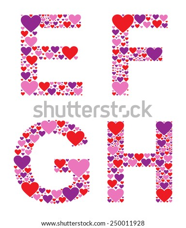 Hearty EFGH - stock vector