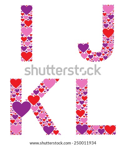 Hearty IJKL - stock vector