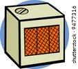 heater - stock vector
