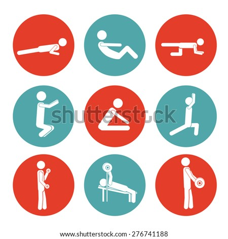 Heathy Lifestyle design over white background, vector illustration