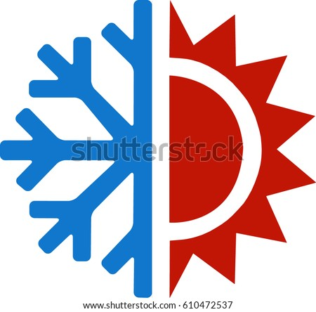 heating cooling icon. heating and cooling icon shutterstock