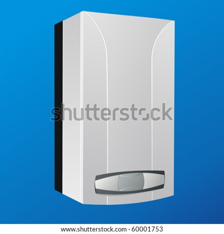 heating boiler vector - stock vector