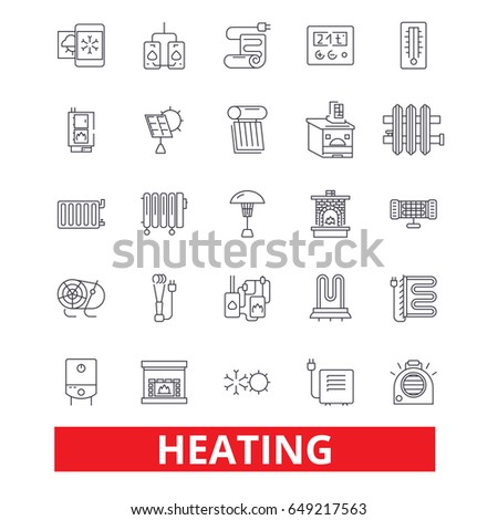 Heating Hot Heart Radiator Heater Heating Stock Vector Hd Royalty
