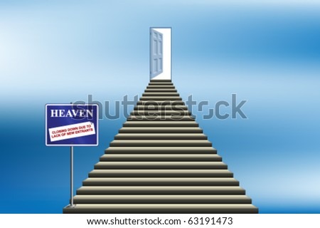 Heaven closing down due to lack of new entrants - stock vector