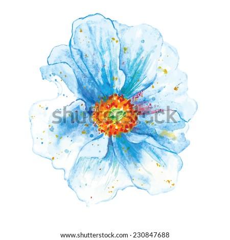 heavenly flower - stock vector