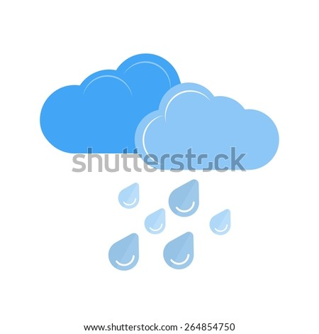 Heavy Rain vector image recommended for use in web applications, mobile applications, and print media. - stock vector
