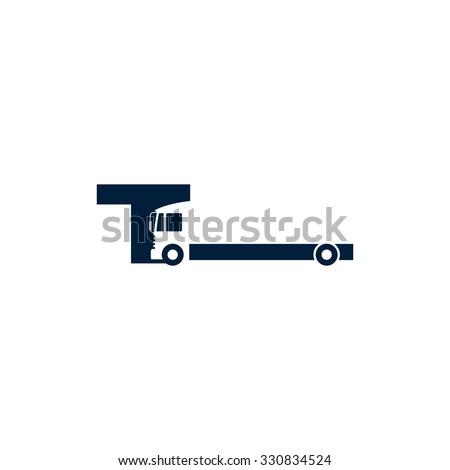 heavy truck logo vector. - stock vector