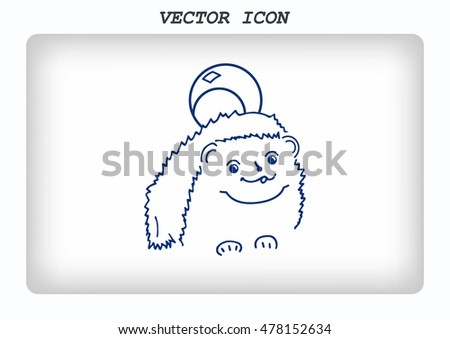 Hedgehog icon. Vector illustration.