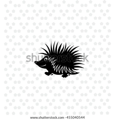 Hedgehog icon vector. Simple illustration.